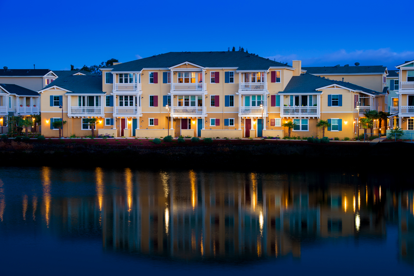 One Marina Twilight Exterior